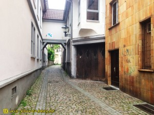 die Turmgasse in der Innenstadt von Offenburg