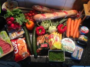 Einkauf des geplante Fingerfood